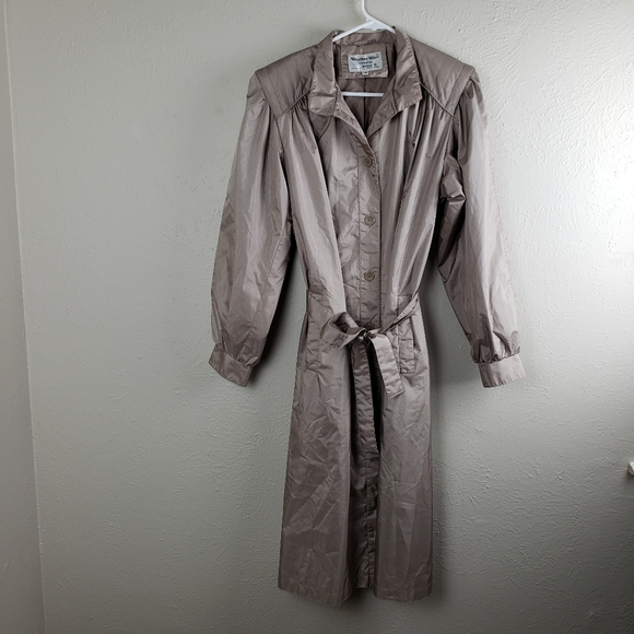 Vintage Jackets & Blazers - Vintage Weather Wise Size 11/12 Trench Raincoat